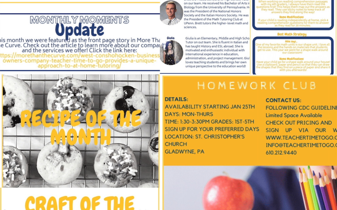 February Monthly Moments Newsletter!