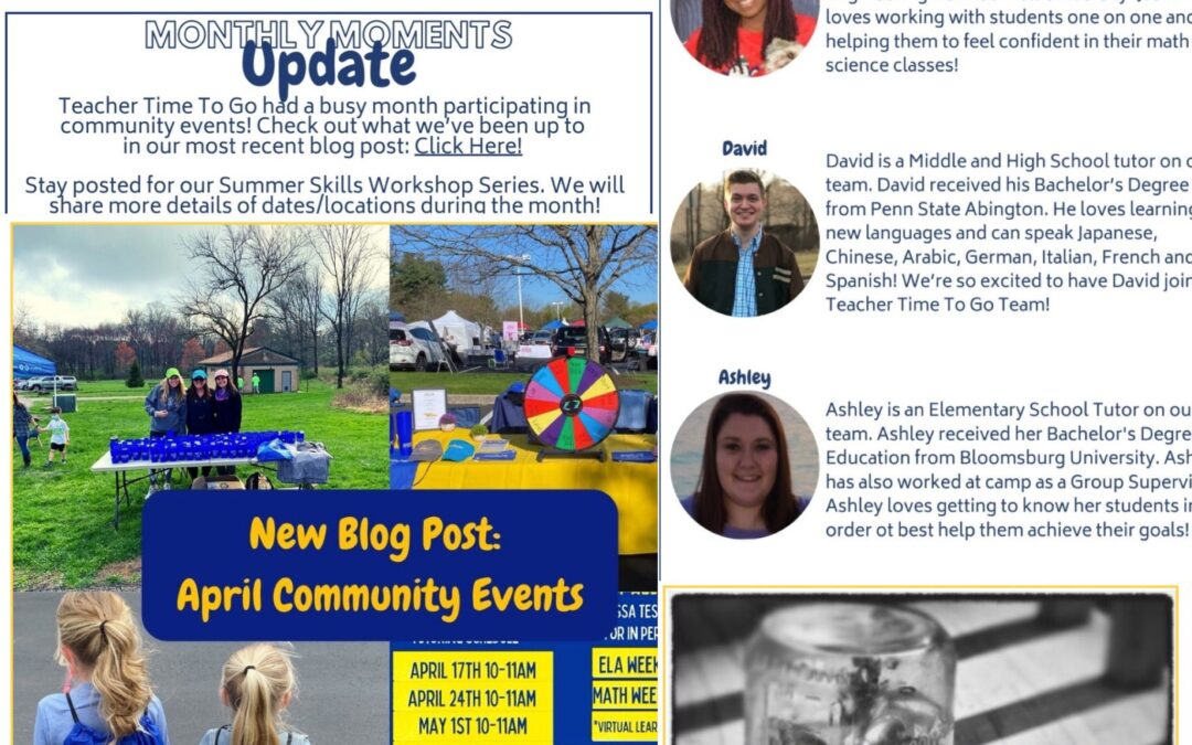 May Monthly Moments Newsletter