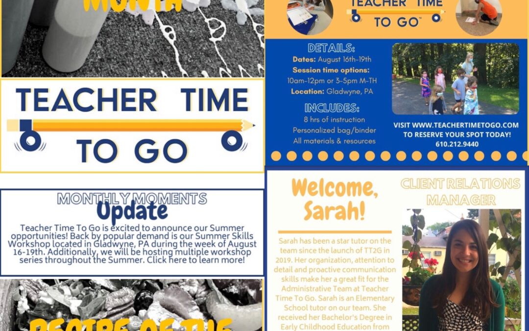 June Monthly Moments Newsletter!